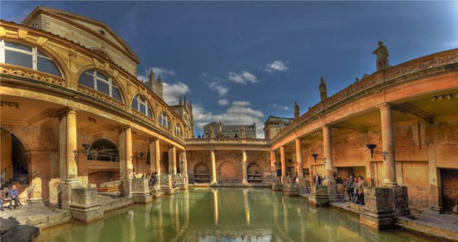 Known for its Roman-built baths, Bath is the largest city in Somerset