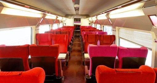 Interior of the Thalys