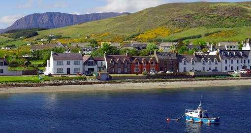 Discover small town Ullapool in Scottish Highlands.