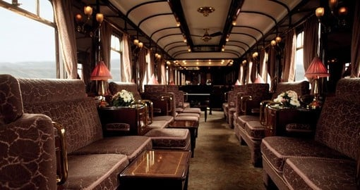 Enjoy Venice Simplon - Lounge on the board of the train on your next trip to London.