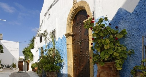 Pretty blue walls of the kasbah always make for a great photo on all Morocco vacations.