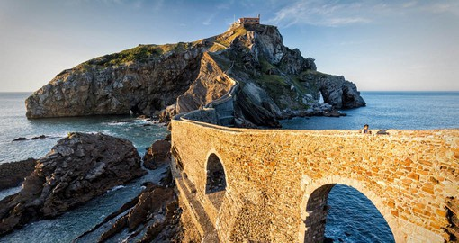 "San Juan de Gaztelugatxe, or ""castle rock"" in Basque  sits in the Bay of Biscay, 35 km east from Bilbao"