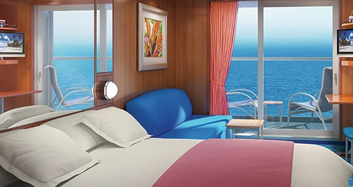 The Balcony Stateroom on the Norwegian Jewel