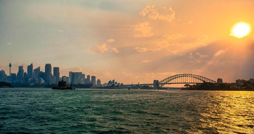 Your trip to Australia features fine dinning on the Sydney Harbour