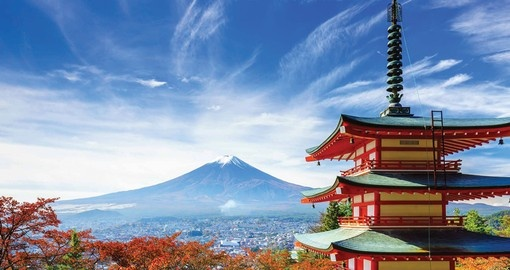 You will see Mount Fuji during your trip in Japan