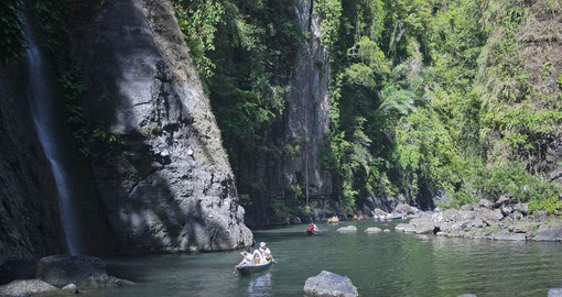 Travel down the Pagsanjan River to the Falls during your Philippines Vacation.
