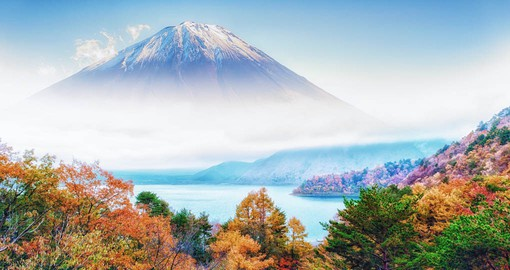 Mount Fuji, Japan's highest mountain is worshiped as a sacred mountain
