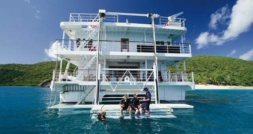 Dive off the back deck of the Pelorus and scuba dive near coral reefs on your next Trips to Australia.