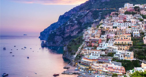 The captivating Amalfi Coast at sunset