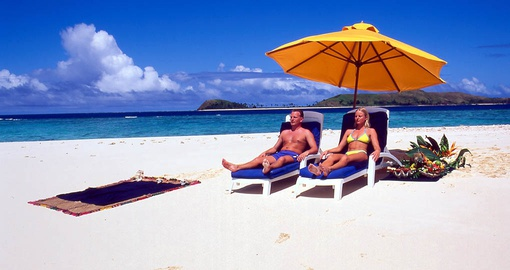 Relax on the beach on your Fiji Vacation