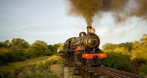 Enjoy an exquisite five-course meal on the lovingly restored Livingstone Express