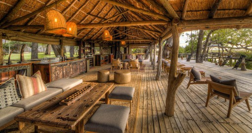 On the banks of the Khwai River, Camp Xakanaxa offers guests an authentic Okavango Delta safari experience