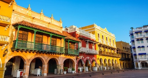 Buildings in the center of Cartagena