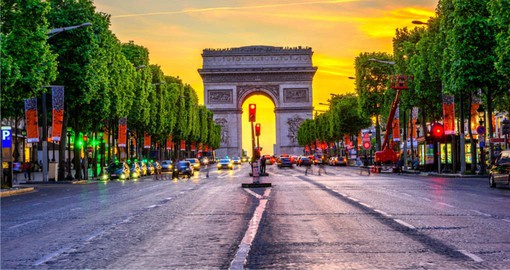 Standing at the western end of the Champs-Élysées, The Arc de Triomphe was inspired by the Roman Arch of Titus