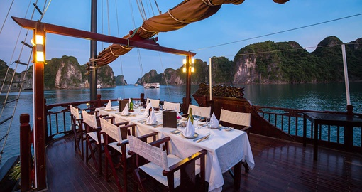 Enjoy dinner on deck