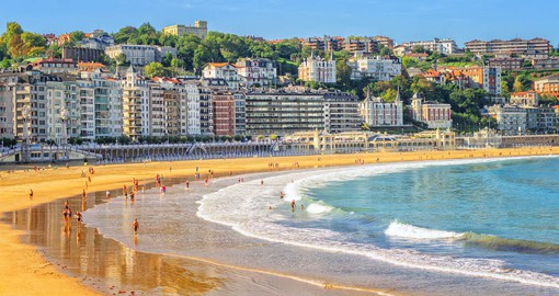 Playa de la Concha is the city's most famous beach