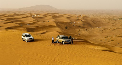 Your group can experience a desert safari based out of Dubai