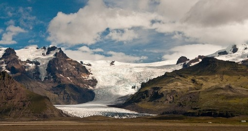 Large Glacier in Iceland