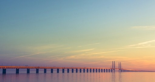 Øresundsbron, the bridge between Denmark and Sweden