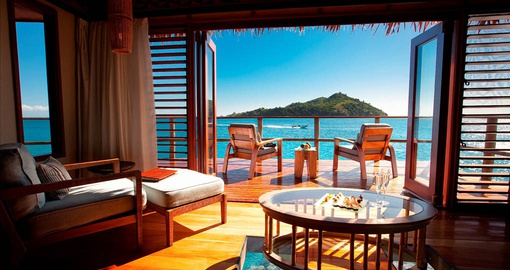 Enjoy ocean views from your bed on your Fiji Vacation