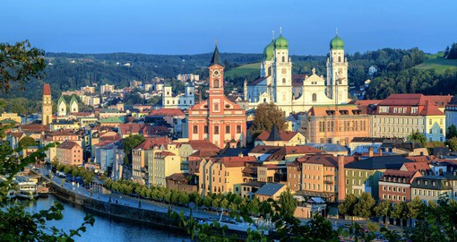 Passau sits at the confluence of the Danube, the Inn and the Ilz rivers