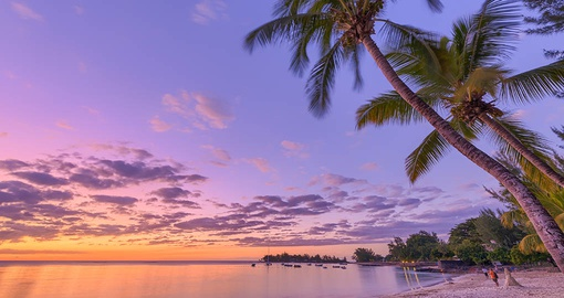 Enjoy amazing sunsets on your trip tp Mauritius