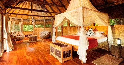 Stylish accommodation at the Bilimungwe Bushcamp on your Zambia Vacation