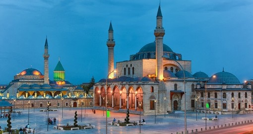 Visit Mevlana Square in Konya during your next Turkey tours.