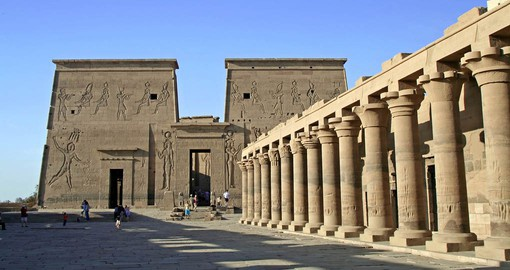 The temple complex at Philae was dedicated primarily to the goddess Isis, but also the gods Horus and Osiris