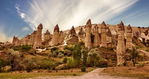 Volcanic mountains in Goreme national park