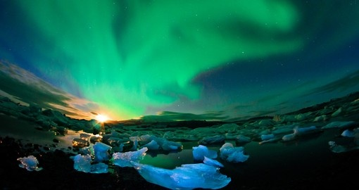 If you are lucky you will be able to watch natures beauty Aurora appear on the sky.