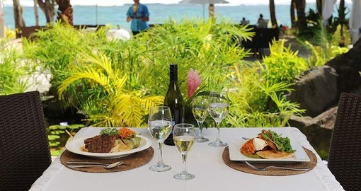 Spend the day or night dining close to the beach during your South Pacific Vacation