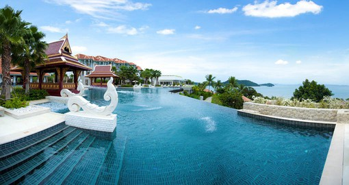 Located on Cape Panwa, the resort boasts an idyllic setting