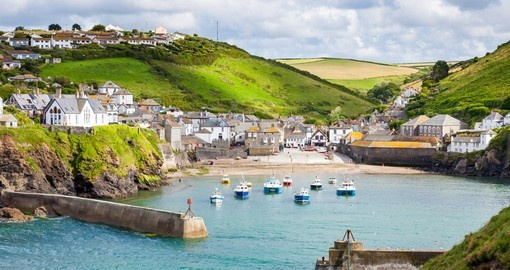 Fishing village of Port Isaac, on the North Cornwall Coast