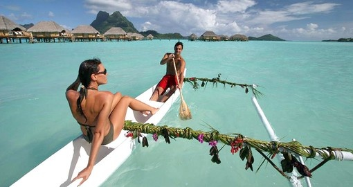 Experience canoeing in the bay during your next Bora Bora vacations.