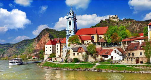 Durnstein, Austria sits at the heart of the picturesque Wachau Valley