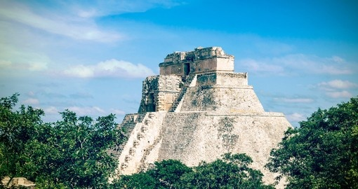 Pyramid of the Magician Merida Yucatan
