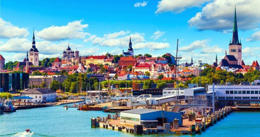 Visit the old town and harbour of Tallinn during your trip to Estonia