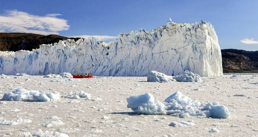 Explore Eqi Glacier in Greenland on your next trip to Europe.