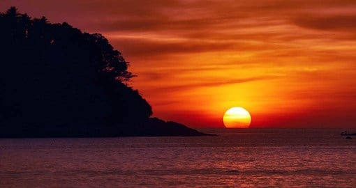 Enjoy a tropical sunset on your Thailand vacation