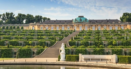 Visit the Sanssouci Palace in Potsdam on your trip to Germany