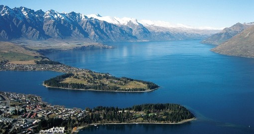 Experience aerial view of Queenstown on your next trip to New Zealand.