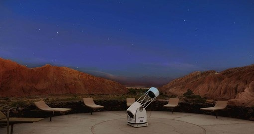 Enjoy the nights sky from the Alto Atacama Observatory during your Chile Vacation