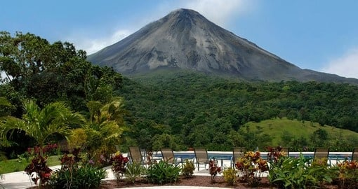 Enjoy amazing views from the pool on your trip to Costa Rica