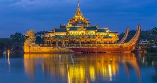 Experience the Golden Karaweik Palace on your Asian Vacation