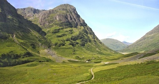 Explore Scottish Highlands in Glencoe during your next trip to Scotland.