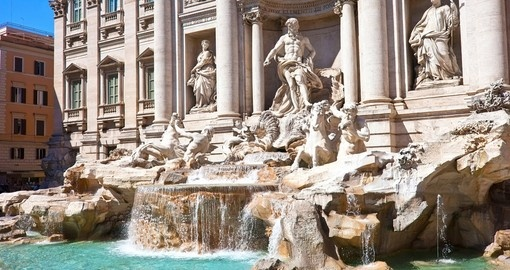 Your Europe trip begins in Rome with a visit to the Trevi Fountain