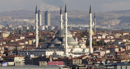 Ankara and the Kocatepe Mosque - both popular photo opportunities on all Turkey vacations.