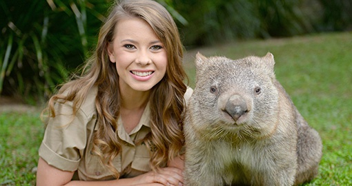 Bindi Irwin at Australia Zoo on the Sunshine Coast