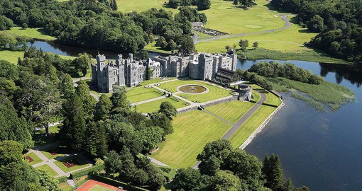 Ashford castle is the former home of the Guinness family